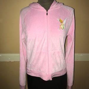 EUC Disney Tinkerbell Velour Full Zip Jacket